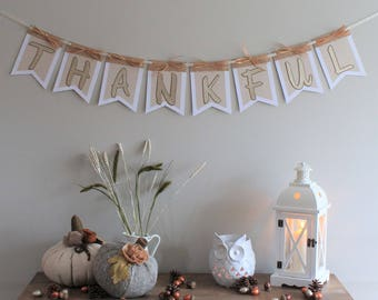 Thanksgiving Banner - Thankful Banner - Fall Banner - Autumn Banner - Thanksgiving Decoration - Fall Decoration - Give Thanks - Fall Wedding