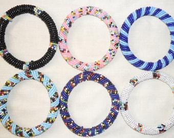 Maasai beaded bracelets set, Beaded bracelets, Beaded wristband, Maasai bracelet, Kenya bracelets, African bracelet, Ethnic bracelet,