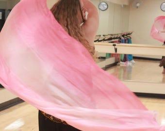 Princess Peach Silk Bellydance Veil, Bellydance Costume Veil
