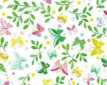 Papier cadeau FABIENNE – Motif: Papillon et feuille