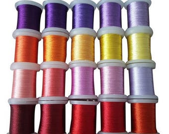 Set of 20 spools of thread to embroider cards set 007