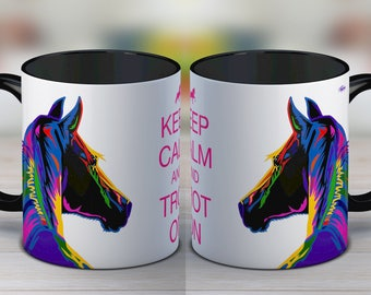 Gift for horse lover, horse, horse mug, horse gift, valentines, coffee mug, ceramic mug, funny mug, gift for women, tea cup, gift for her