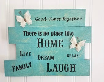 Wooden Sign, Family Sign, Hand Painted Sign, Wood Wall Art, Wood Wall Decor, Wood Signs with Home Sayings, Rustic Sign, Rustic Decor