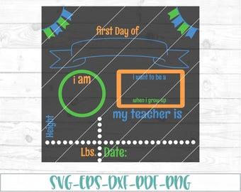 Back To School Chalkboard svg, dxf, cricut, cameo, cut file, back to school svg, chalkboard svg, preschool svg, 1st day of school svg