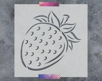 Strawberry Stencil - Reusable DIY Craft Stencils of a Strawberry