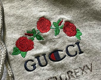 Custom Made Ava Nirui Champion x Gucci Hoodie
