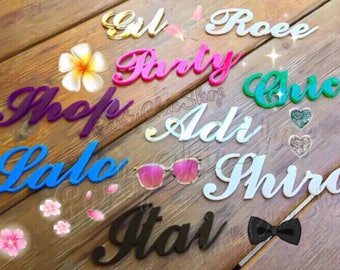 Laser Cut Acrylic Place Name | Personalised Wedding Place Cards | Guest names | Custom wedding signs | Acrylic  place cards | Any Color
