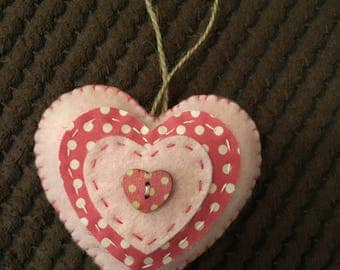 Shabby Chic Hanging Heart Mothers Day Gift