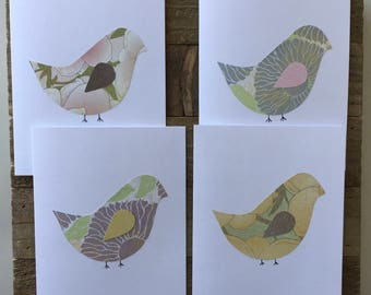 Bird Card Set / Blank Greeting Card