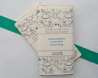 New Baby Boy Gift, New Baby Customised Chocolate Bar, New Parents Custom Chocolate Wrapper, Baby Shower Chocolate, New Parents Gift