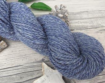 """Yarn handspun - merino, bamboo - """"Stonewashed Jeans"""" - 170yds/3,81oz - 2ply"""