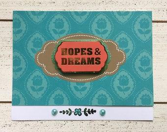 Blue Floral Hopes & Dreams Card