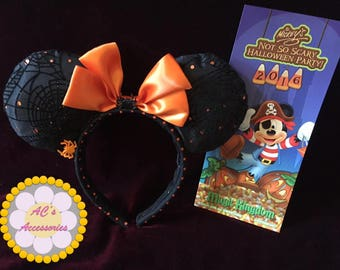 Halloween Spider Web Mouse Bow Ears