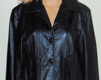 Vintage Wilsons Maxima Black Leather Jacket sz L