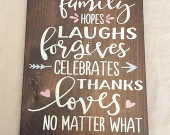 Family sign, Wood Sign, porch, Home Decor, housewarming, house, sign, family