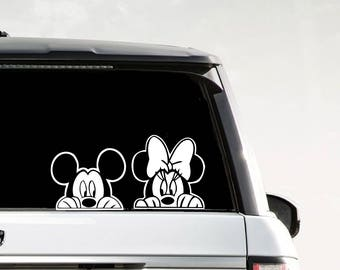 Minnie and Mickey sticker | Disney Mickey Decal | Disney Mickey Mouse Sticker |  Disney Minnie Mouse Vinyl Decals