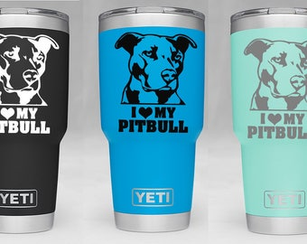 Pitbull sticker - Vinyl Yeti decal - Yeti Tumbler Decal - Yeti Decal  stickers - Pitbull Yeti Decal