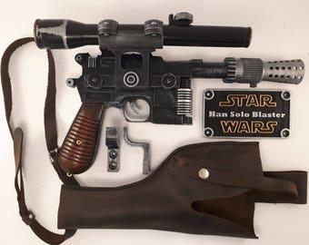 Star Wars Blaster DL-44 + real leather holster - Han Solo blaster - Battlefront - cosplay - props