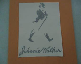 JOHNNIE WALKER Vinyl Sticker in Black