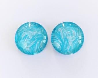 The 'Jocelyn' Glass Earring Studs