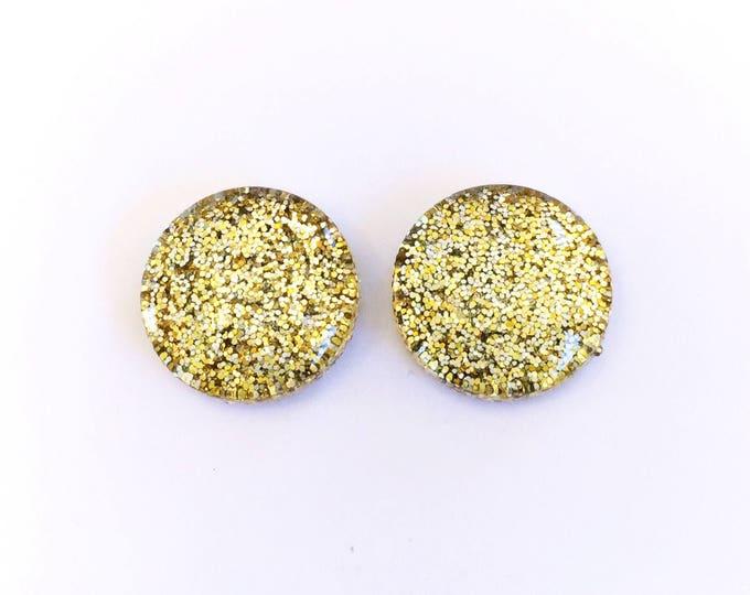 The 'Millionaire' Glass Glitter Earring Studs