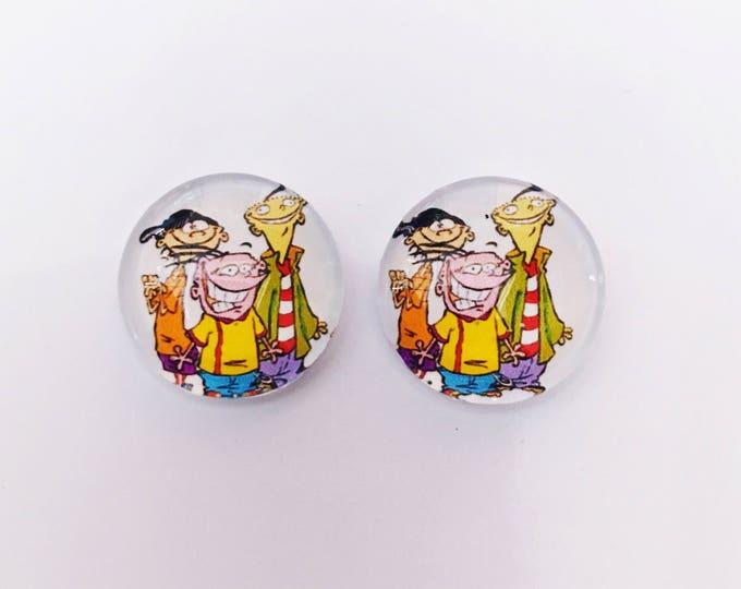 The 'Ed, Edd, n Eddy' Glass Earring Studs