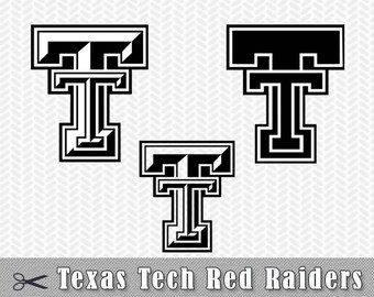 SVG PNG Texas Tech Red Raiders Logo Vector Cut File Silhouette Studio Cameo Cricut Design etc Template Stencil Vinyl Decal Transfer Iron on