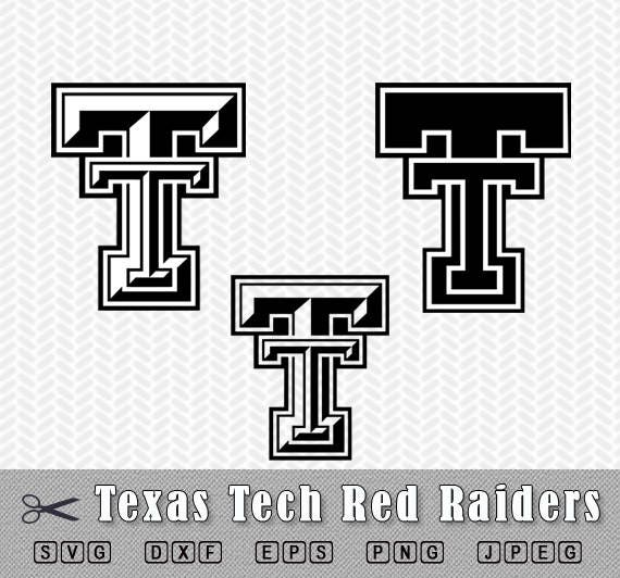 svg png texas tech red raiders logo vector cut file silhouette