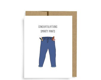 Graduation Card, Smarty Pants