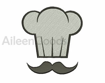 Chef Hat Embroidery design 8 Size INSTANT download machine embroidery