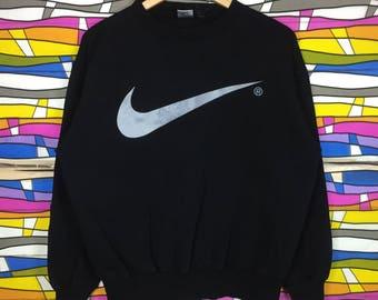 Rare!! Vintage NIKE Big Logo Sweatshirt