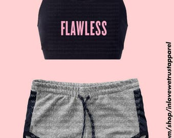 FLAWLESS Sports Bra and Shorts - WORKOUT SET