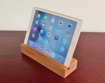iPad Stand. iPad Holder. Wooden iPad Stand. Tablet Holder. Tablet Stand. Handmade in Oak Hardwood