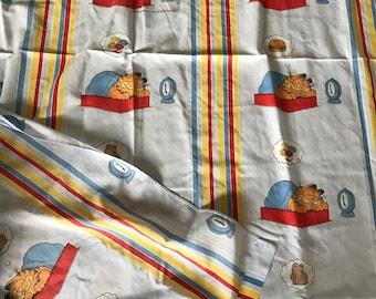 Vintage 1978 Garfield Twin Sheet Set