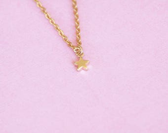 Star necklace / gold plated star necklace / star necklace