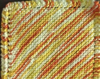 Orange Multi-colored Washcloth