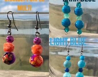 Ball Dangle Earrings-your choice