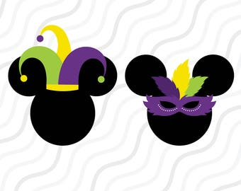 Mickey Mardi Gras SVG, Disnay Mardi Gras, Mardi Gras SVG Cut table Design,svg,dxf,png Use With Silhouette Studio & Cricut_Instant Download