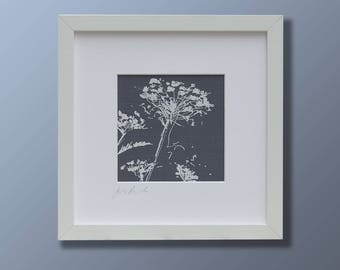 Cow parsley fabric screen print