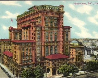 MINT 1910s Old VANCOUVER Hotel, British Columbia, Coast Pub Co., B.C. ; Court House