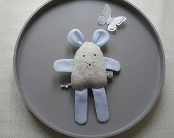 Toy mouse Sweatshirt grey and stitched blue