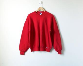 90s Red Sweatshirt - Athletic Sport 90s Sweatshirt Vintage - Russell Athletic Oversized Sweatshirt - Vintage Sweatshirt Oversized - Men's XL