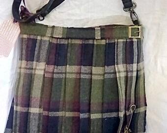Scottish Tweed Kilt Handbag