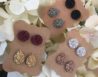 2 pack of Druzy Studs