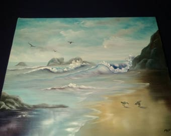 Shorebird Canvas panting