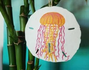 Jelly Fish San Dollar Ornament