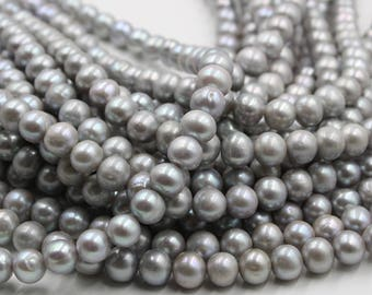 11 mm gray round freshwater pearls, gray round pearl,15'' full strand, round pearl strands, pearl wholesale