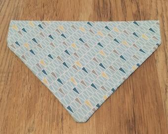 Blue Triangles Dog Bandana