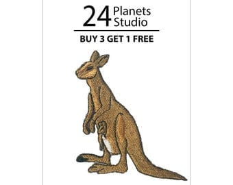 Kangaroo Australia Iron on Patch by 24PlanetsStudio