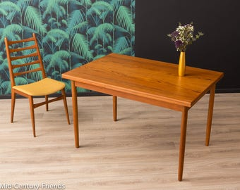 Teak dining table, table, 50s, vintage (711017)